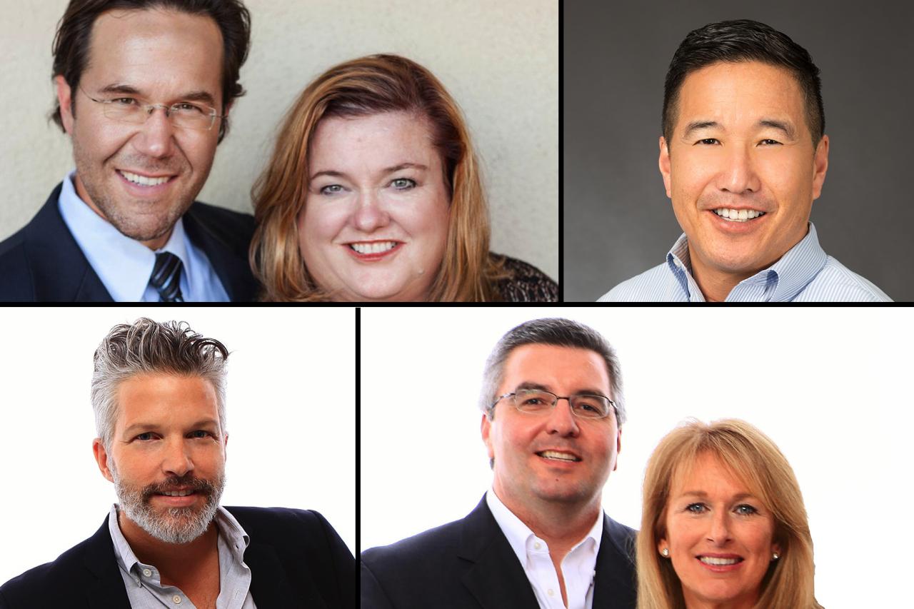 Upper left: Andrew Roth, Jenn Pfeiffer Upper right: Mark Machado Lower left: Chris DeNike Lower right: Spiro Stratigos, Dorothy MacDougald