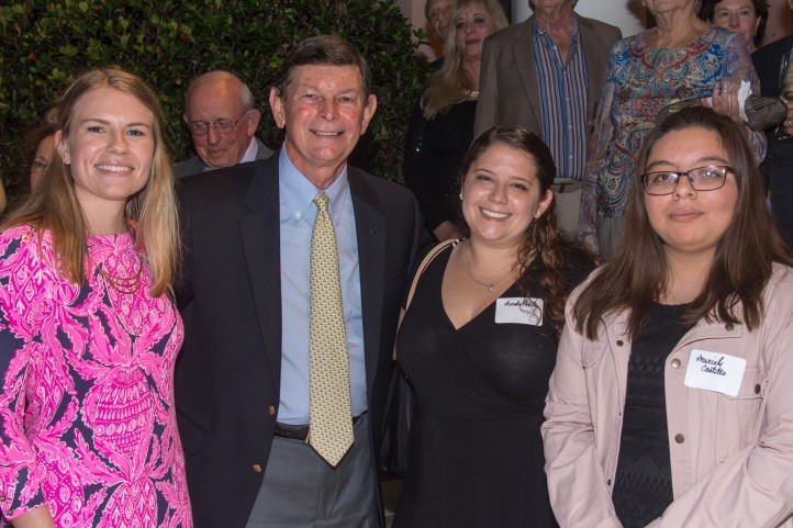Pictured left to right: Scholarship Recipient, Grace Waage, Edwin Massey President of IRSC and Scholarship Recipients Nicole Martz and Mariely Costilla
