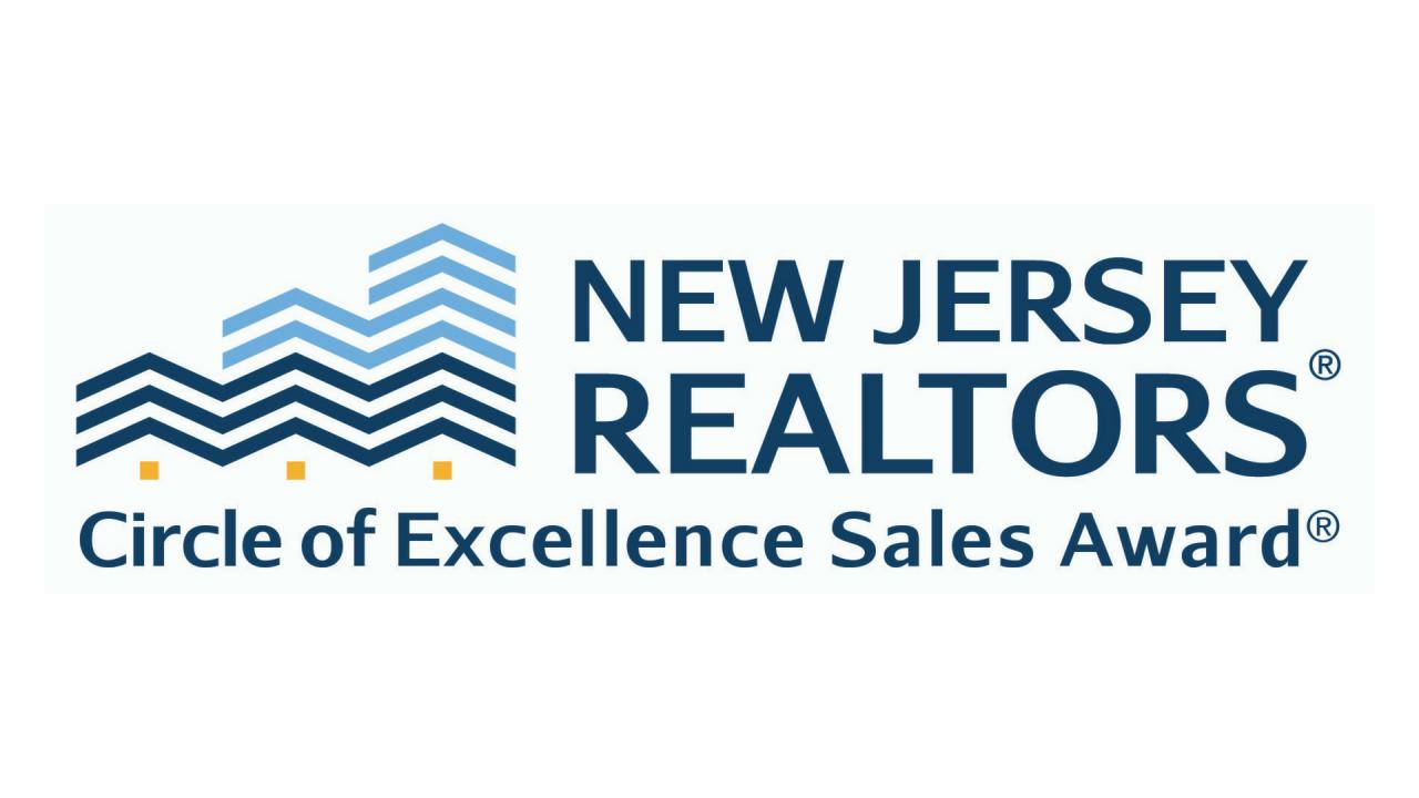 The NJ Realtors® Circle of Excellence® Sales Award®  Logo