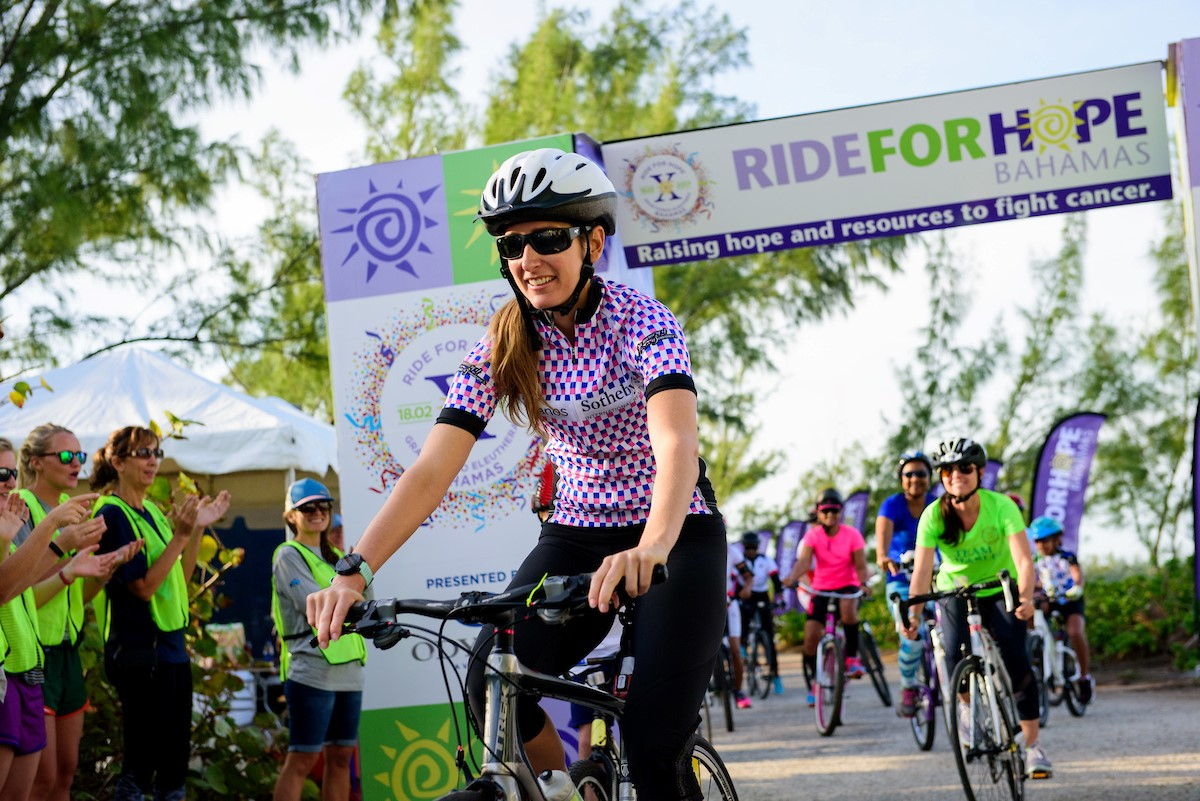 Keeping Hope Alive. Lana Rademaker, co-owner and Vice President of Damianos Sotheby's International Realty, participated in the 2017 Ride for Hope in Eleuthera marking the 10th anniversary of the fundraiser which garnered more than $550,000 to support treatment for cancer patients throughout The Bahamas.