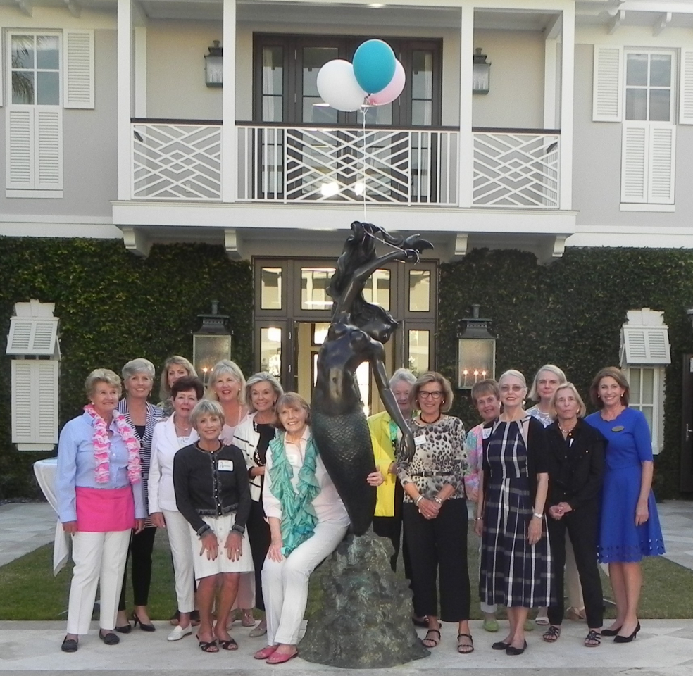 Pictured left to right: 2018 Committee; Deedee Cunningham, Ronnie Weyrauch, Annette Lovell, Marilyn Kinsella, Joanne Dorey, Carole Finck, Pat Scott, Nancy Cruce, mermaid, Kay Falise, Bonnie Davis, Gerry Collins, Carrol Spurgeon, Colette Kennedy, Dorsey Seed and Lynda Stinson