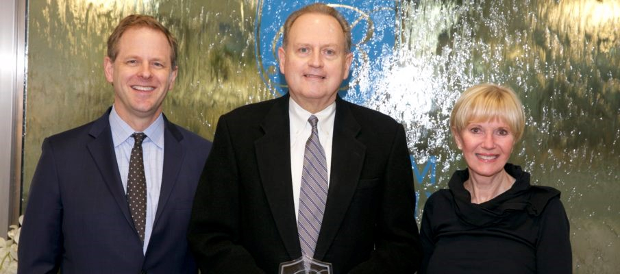 Pictured left to right: Dac Carver, Vice President and Managing Broker, Robert Orr and Glennis Beacham