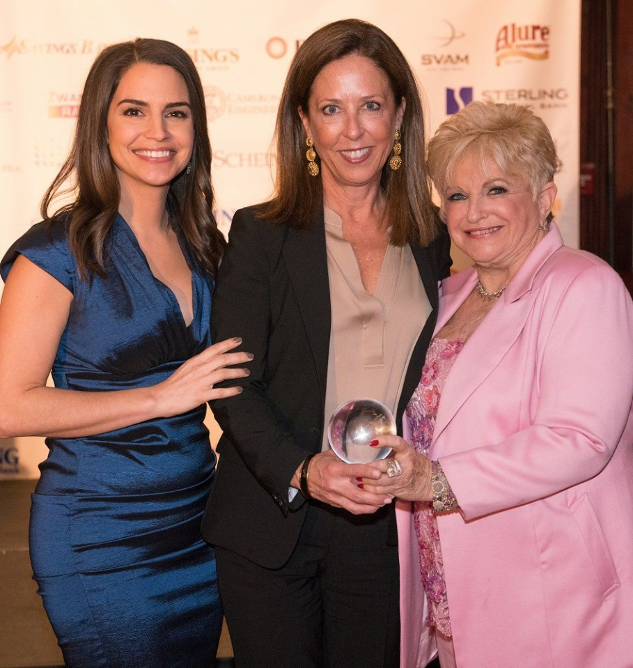 Photo caption:  Daniel Gale Sotheby's International Realty CEO Deirdre O'Connell Named to Power List   Daniel Gale Sotheby's International Realty CEO Deirdre O'Connell (center) was recently recognized among the most influential leaders on Long Island, having been named to the Long Island Press Power List.  Pictured with Deirdre are ABC News anchor Diane Macedo (left), who emceed a commemorative event  and Vicki Schneps, CEO of Schneps Communications and co-publisher, Long Island Press