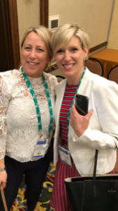 Pictured left to right: Beacham relocation coordinator Sharon Leone with Tara Chandler of Extended Stay America