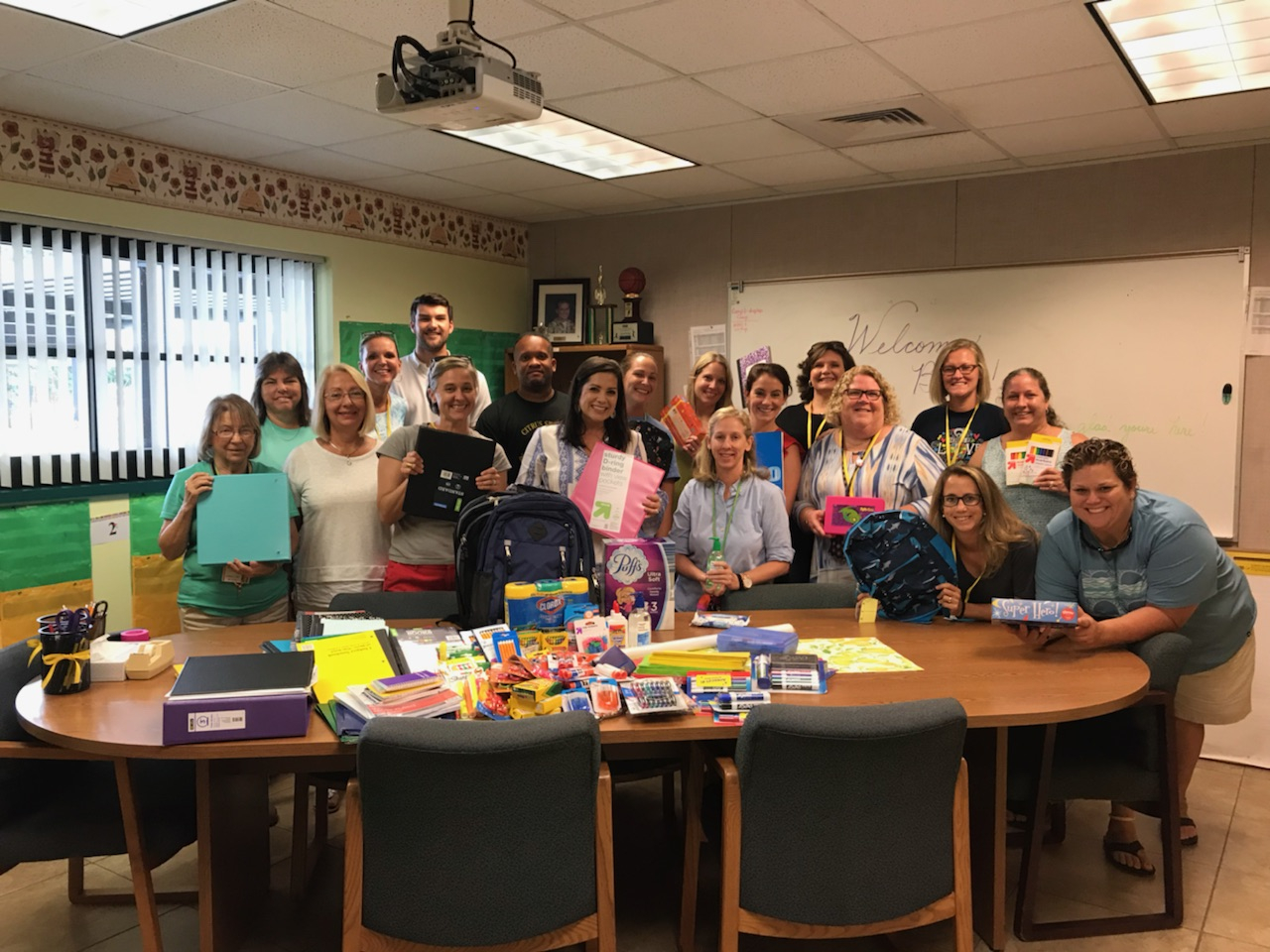 Pictured L to R: Citrus Elementary presentation including Sandy Peters, Cathy Renninger, Sue DiDomizio, Kim Garcia, Connor Bennett, Kelli Mejia, Ms. Hurley, Mike Reed DSRE), Julie Durazzo, Andi Monroe, Becky O'Donnell, Kaitlin Embrey, Tiffany Carlsen, Terry Parker, Kelly Vanbuskirk, Kim Rahal, Lisa Segroves, Nicole Deltufo