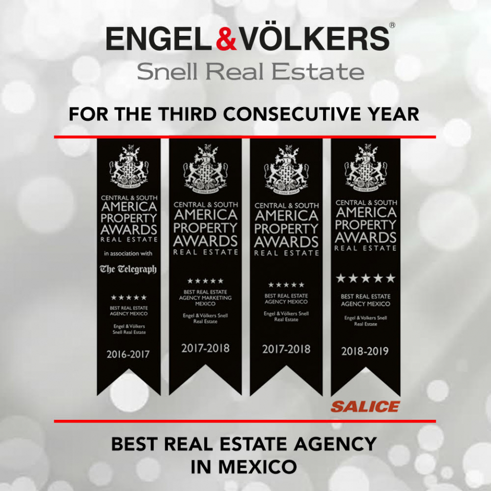 Engel & Völkers Snell Real Estate Wins Best Real Estate Agency in Mexico Delivering Monumental Three-Peat