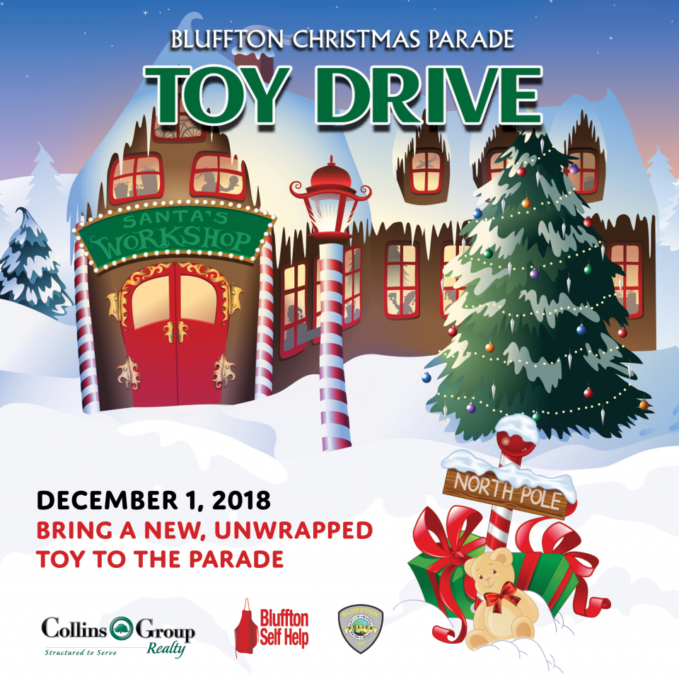 2nd Annual Toy Drive During the Bluffton Christmas Parade Sponsored by Collins Group Realty
