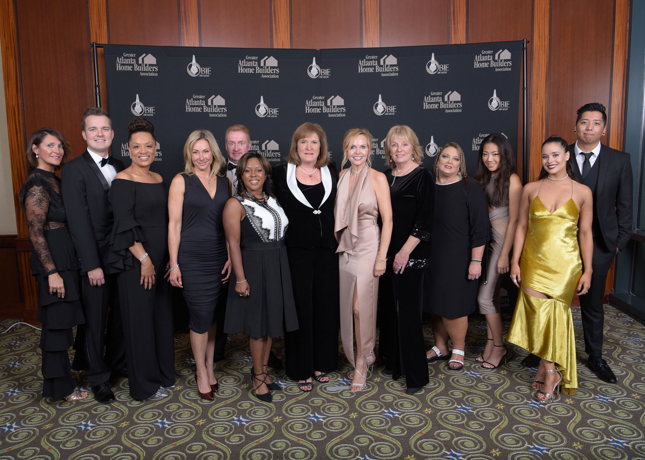 Pictured left to right: ChrisAnn Johnson, John Waluskiewicz, Daphne Nelson, Christine Hammond, Adam Brunning, Ta'Tisha Gibbs, Laura Watkins, Lori Lane, Nicola Schwab, Beth Pruitt, Soo Cha, Michelle Sanchez, Cristian Perez of Berkshire Hathaway HomeServices Georgia Properties and Marketing Results