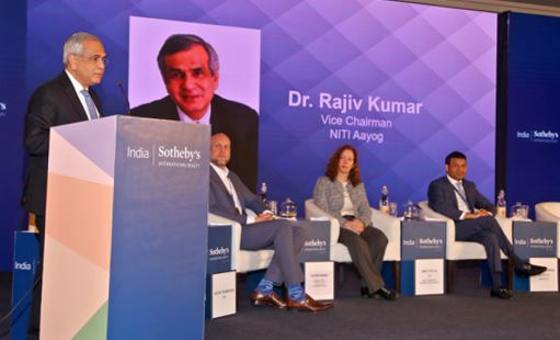Dr. Rajiv Kumar (Vice Chairman, NITI Aayog) giving the Inaugural Address