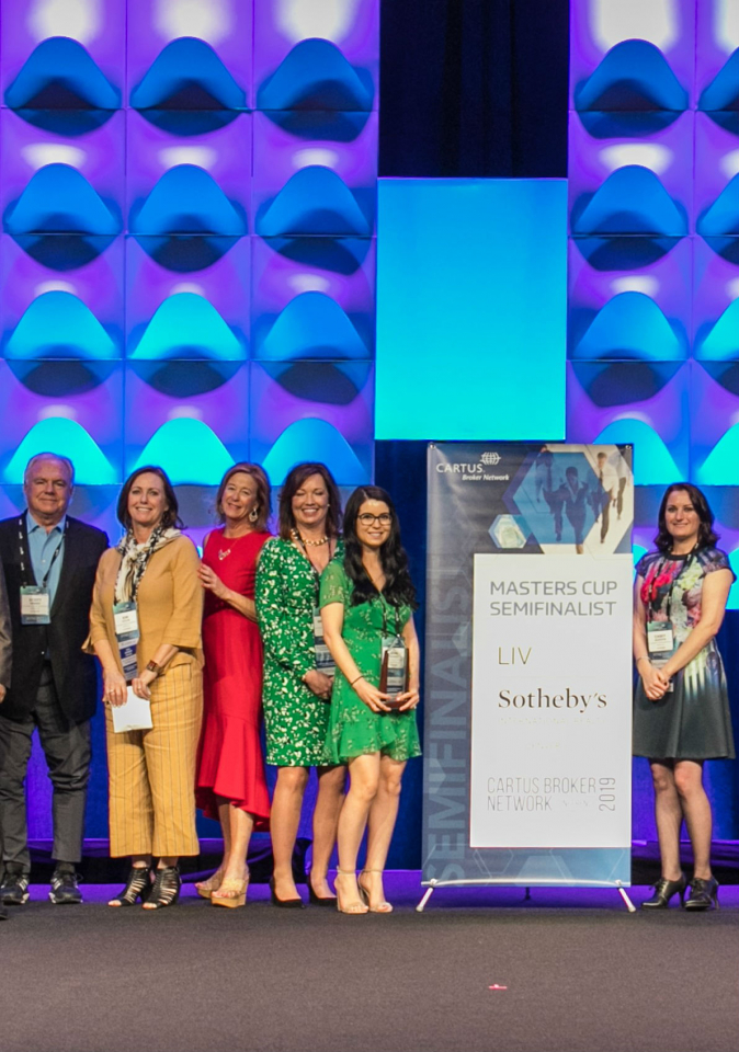 LIV Sotheby's International Realty was recently recognized as one of the four finalists for the Cartus Masters Cup, the top honor in the Cartus Broker Network