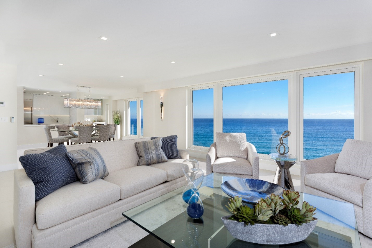 Sabal Ridge listing with new modern renovations and oceanfront views