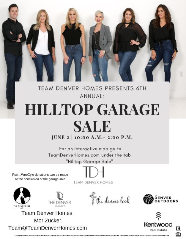 Team Denver Homes Presents 6th Annual: Hilltop Garage Sale - June 2nd, 2019 from 10:00 A.M. to 2:00 P.M.