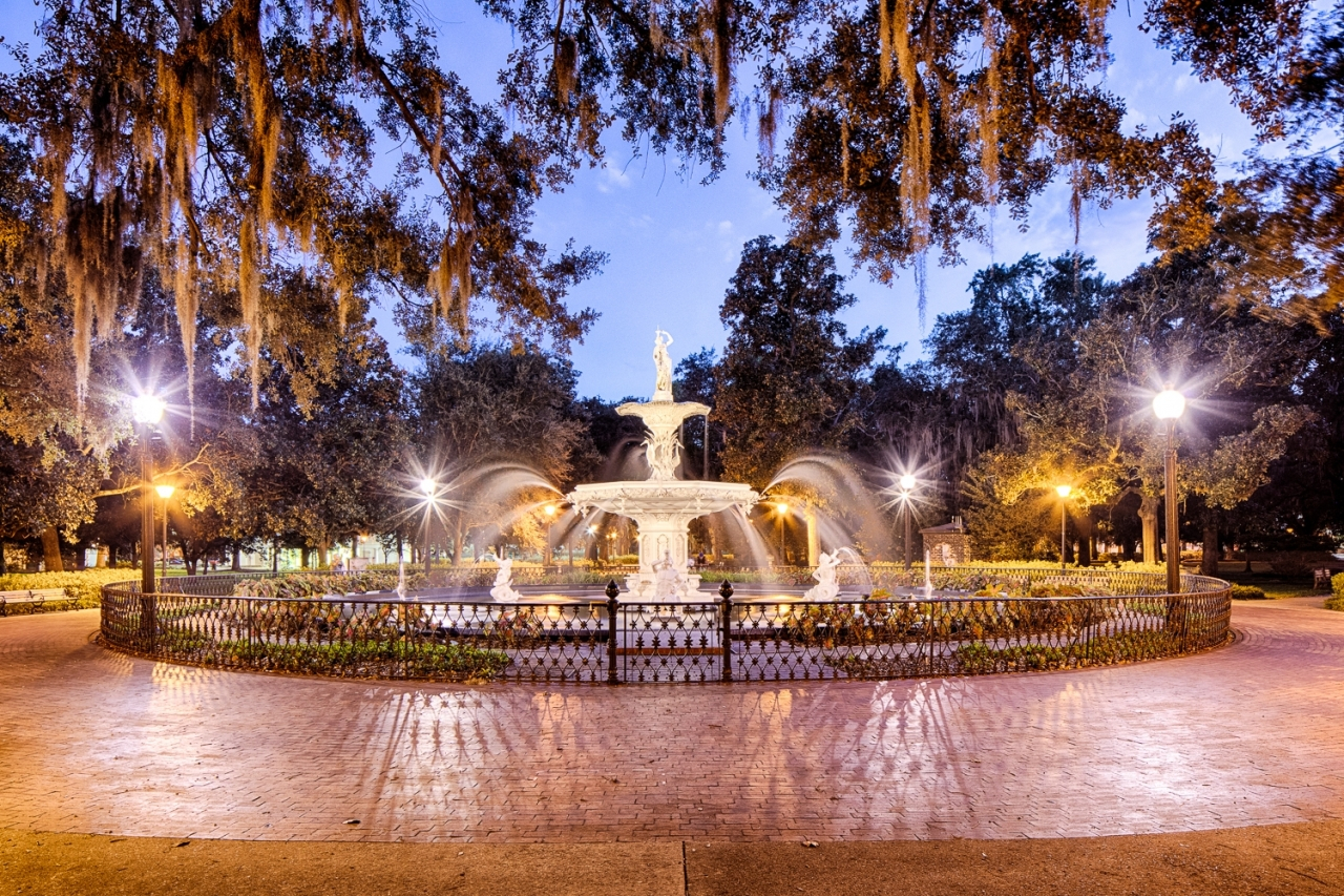 Forsyth Park Fountain in Savannah, Ga. Photo credit: Back River Photography.