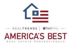 REAL Trends + Tom Ferry America's Best Real Estate Professionals