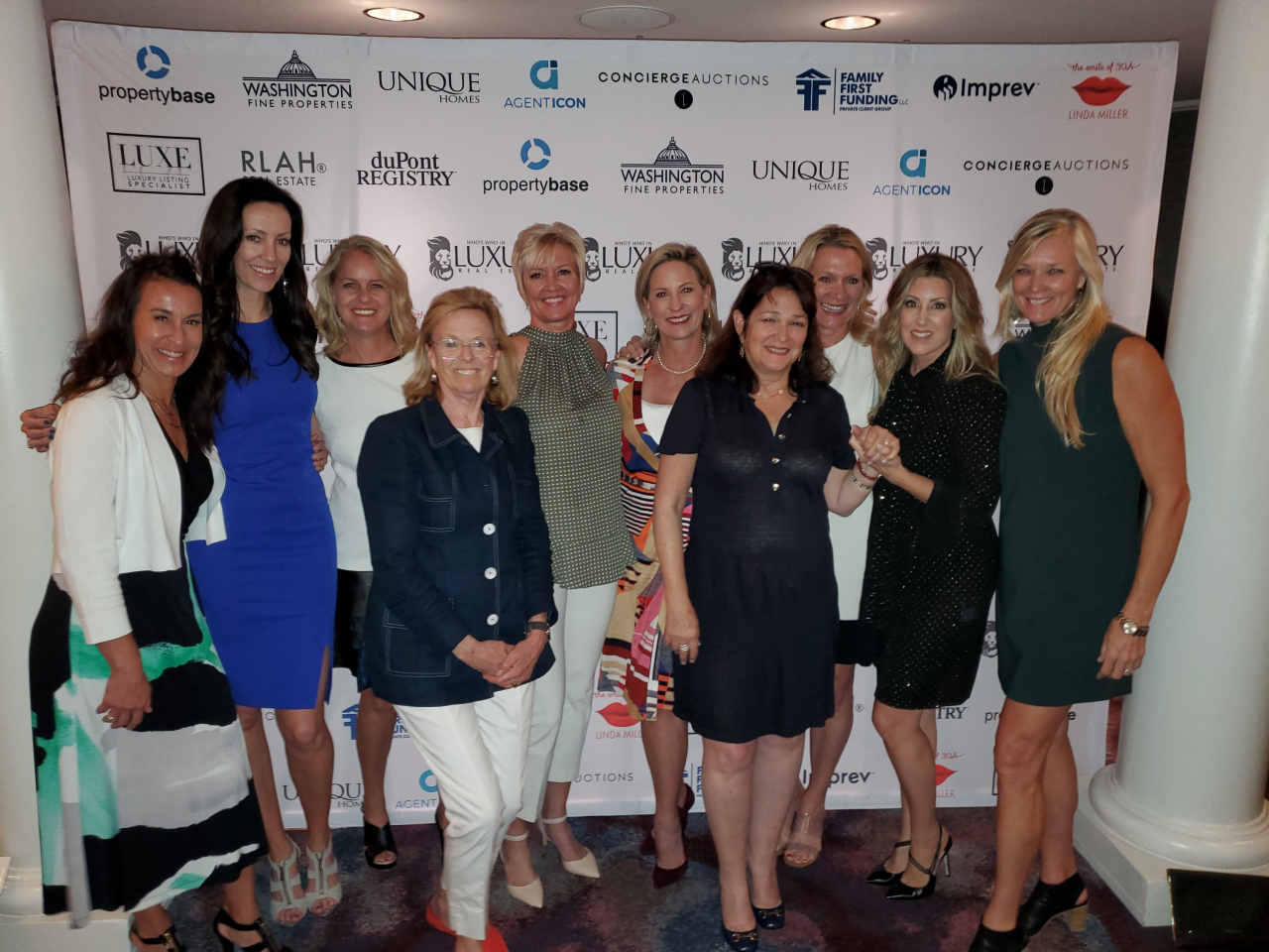 Members of the LIV Sotheby's International Realty team network with others at the 24th Annual Luxury Real Estate Fall Conference.