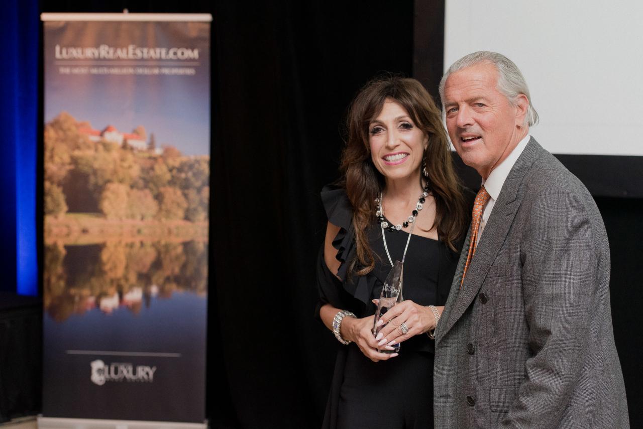 Pictured left to right: Award recipient, Rina DiRisio and John Brian Losh, LRE®