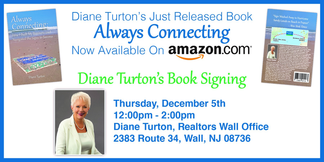 "Diane Turton, author of the new book, ""Always Connecting: How I Built My Business and Navigated the Signs to Success."""