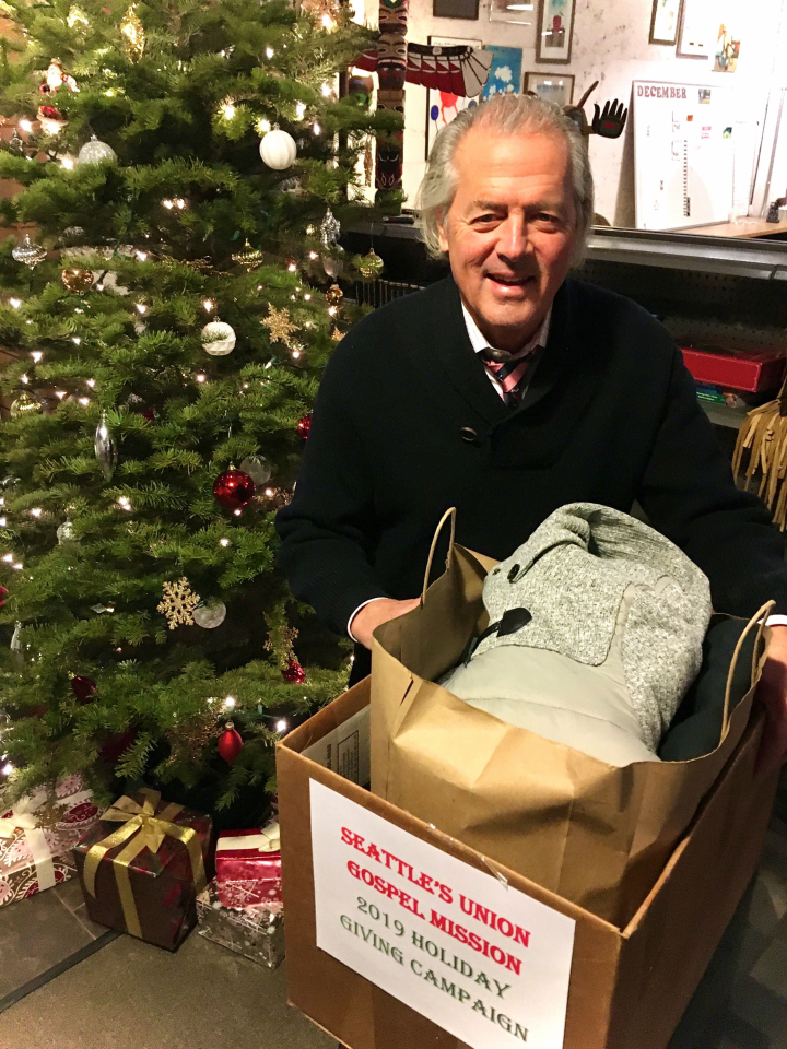 Who's Who in Luxury Real Estate Chairman John Brian Losh with some of the donations