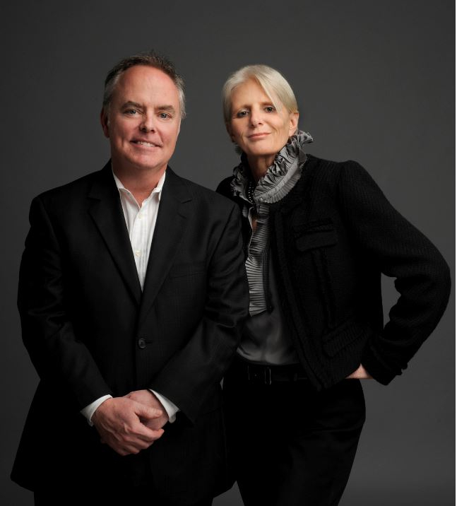 The late Carolynn Ozar Diakon, Philanthropist and founder of Resources Real Estate and Thomas McCormack, Senior Partner and Broker of Resources Real Estate