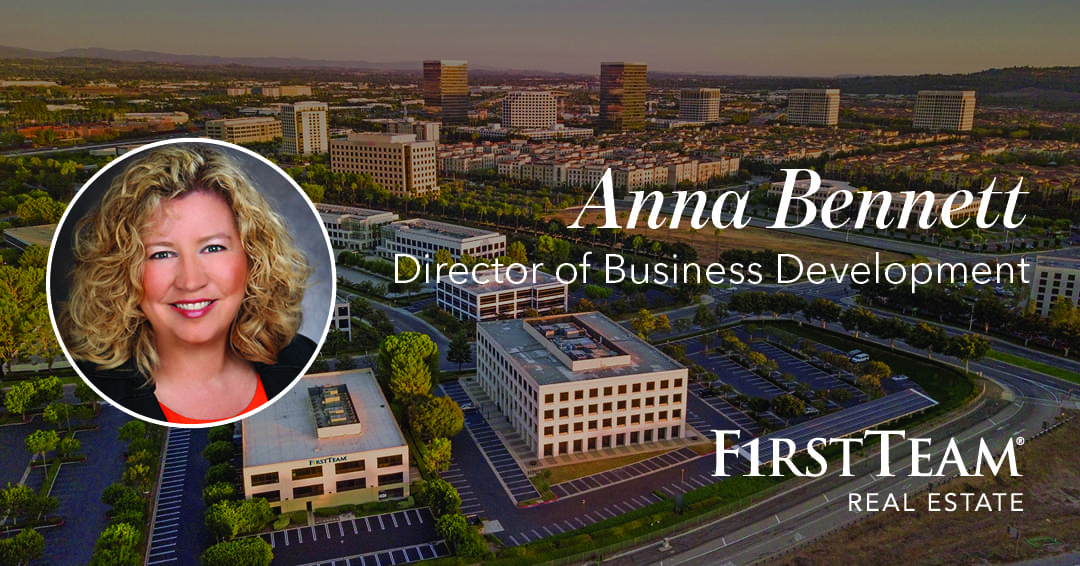 Working with First Team Real Estate for 12 years, Anna Bennett continues to be an agent of change and growth within the company in her new role as Director of Business Development.
