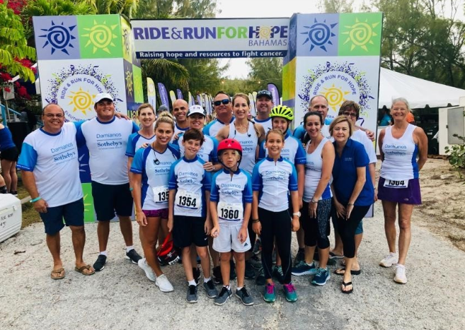 Riding for Hope. This year marks the seventh year that Damianos Sotheby's International Realty has participated in Ride & Run for Hope, an annual fundraiser that benefits cancer research, education and prevention.