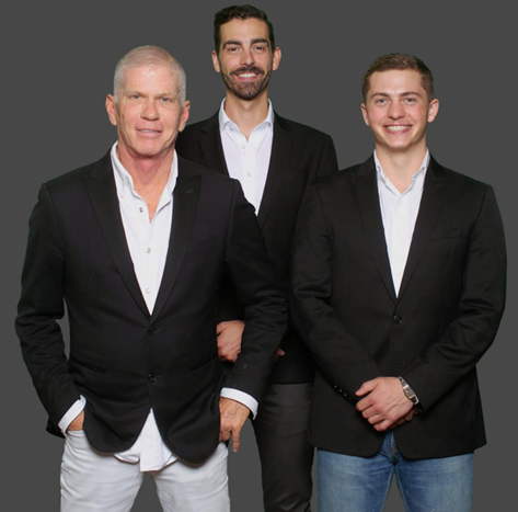 Bradford Moody, Thomas Withers, Dylan McKie (l-r) of b. moody group recently joined Seabolt Real Estate in Savannah, GA.