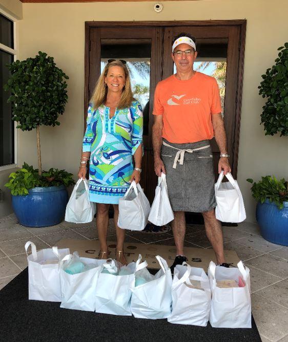Lori Davis and Chef Scot Varricchio