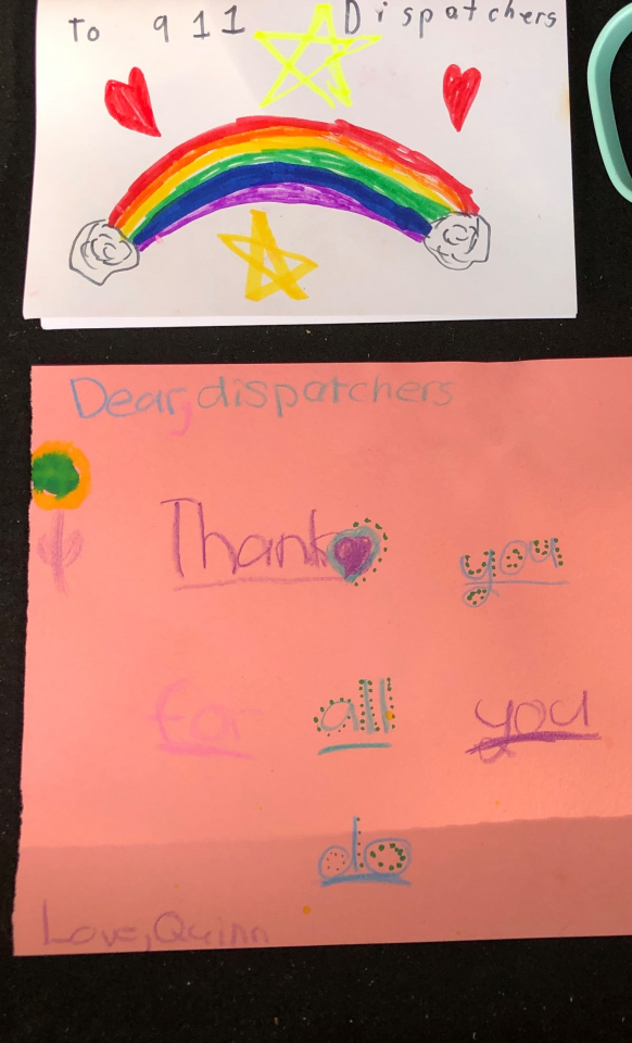 Thank you notes from the children.