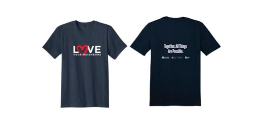 Love Your Neighbor t-shirts
