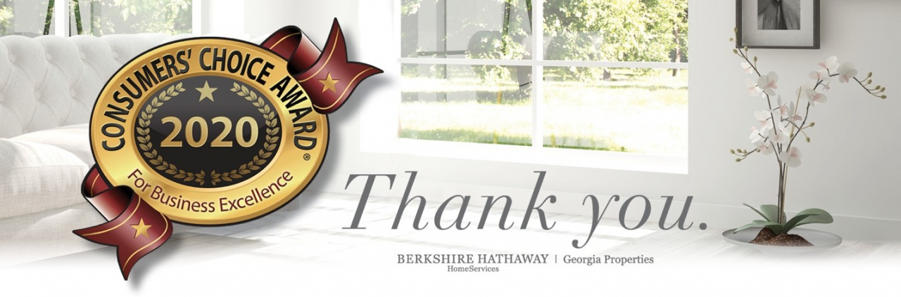 Consumers' Choice Award Recognizes Berkshire Hathaway HomeServices Georgia Properties for Eighth Year in a Row