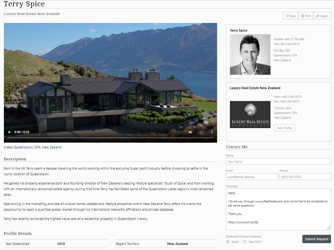 LuxuryRealEstate.com agent profile