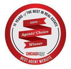 Chicago Agent Magazine's Agents' Choice Award for the Best Agent Website in 2020