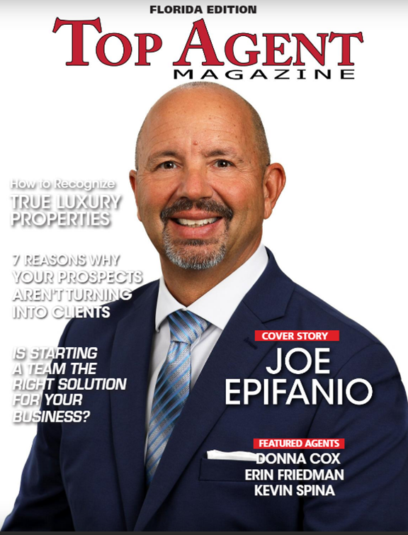 Joe Epifanio PA on the cover of the February issue of Top Agent Magazine