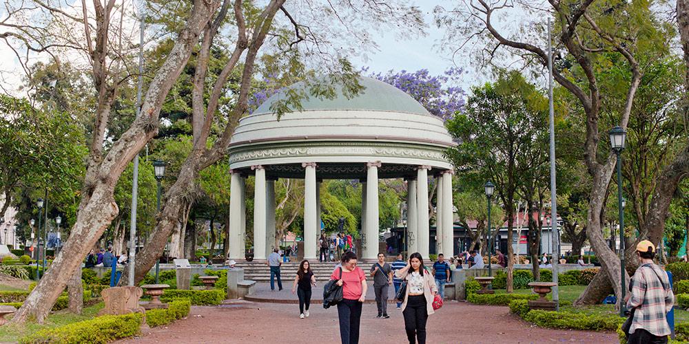 Morazán Park, located in San Jose.