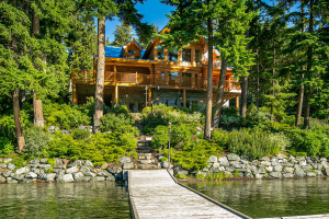 Stunning Lakefront Log Home