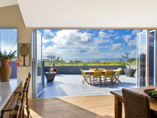Family Room open to entertainers terrace