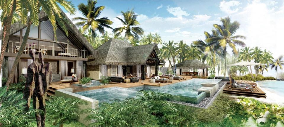 The four seasons bora bora private residences for Luxury french real estate